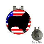Australian Shepherd Silo Usa Flag Hat Clips with Golf Markers Front