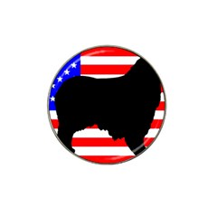 Australian Shepherd Silo Usa Flag Hat Clip Ball Marker (10 pack)