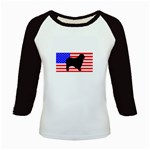 Australian Shepherd Silo Usa Flag Kids Baseball Jerseys Front