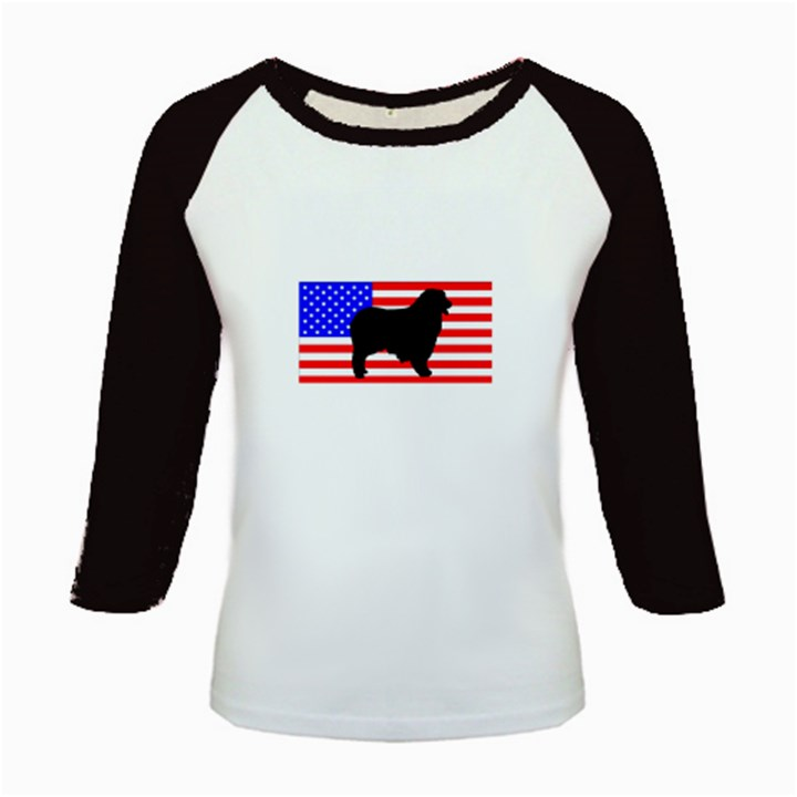 Australian Shepherd Silo Usa Flag Kids Baseball Jerseys