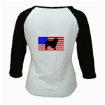 Australian Shepherd Silo Usa Flag Kids Baseball Jerseys Back