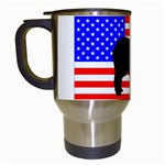 Australian Shepherd Silo Usa Flag Travel Mugs (White) Left