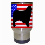 Australian Shepherd Silo Usa Flag Travel Mugs (White) Center