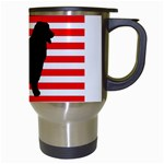 Australian Shepherd Silo Usa Flag Travel Mugs (White) Right