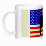 Australian Shepherd Silo Usa Flag Night Luminous Mugs Left