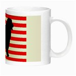 Australian Shepherd Silo Usa Flag Night Luminous Mugs Right