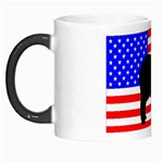 Australian Shepherd Silo Usa Flag Morph Mugs Left