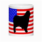 Australian Shepherd Silo Usa Flag Morph Mugs Center