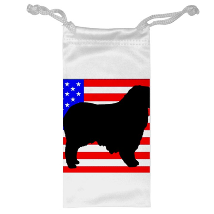 Australian Shepherd Silo Usa Flag Jewelry Bags
