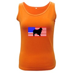 Australian Shepherd Silo Usa Flag Women s Dark Tank Top