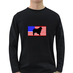 Australian Shepherd Silo Usa Flag Long Sleeve Dark T-Shirts