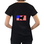 Australian Shepherd Silo Usa Flag Women s Loose-Fit T-Shirt (Black) Back