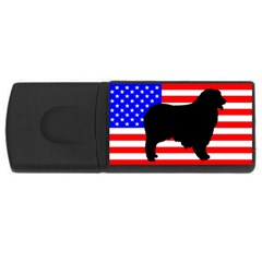 Australian Shepherd Silo Usa Flag USB Flash Drive Rectangular (4 GB)
