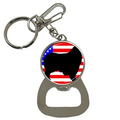 Australian Shepherd Silo Usa Flag Bottle Opener Key Chains