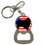 Australian Shepherd Silo Usa Flag Bottle Opener Key Chains Front