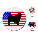 Australian Shepherd Silo Usa Flag Playing Cards (Round)  Front