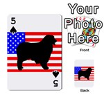 Australian Shepherd Silo Usa Flag Playing Cards 54 Designs  Front - Spade5