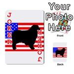 Australian Shepherd Silo Usa Flag Playing Cards 54 Designs  Front - Joker2