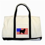 Australian Shepherd Silo Usa Flag Two Tone Tote Bag Front