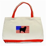 Australian Shepherd Silo Usa Flag Classic Tote Bag (Red) Front
