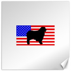 Australian Shepherd Silo Usa Flag Canvas 12  x 12