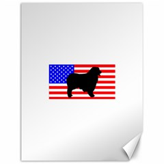 Australian Shepherd Silo Usa Flag Canvas 12  x 16