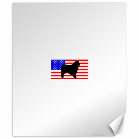 Australian Shepherd Silo Usa Flag Canvas 20  x 24