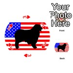 Australian Shepherd Silo Usa Flag Playing Cards 54 (Round)  Front - Heart3