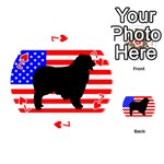 Australian Shepherd Silo Usa Flag Playing Cards 54 (Round)  Front - Heart7