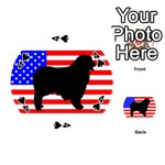 Australian Shepherd Silo Usa Flag Playing Cards 54 (Round)  Front - Spade4