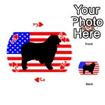 Australian Shepherd Silo Usa Flag Playing Cards 54 (Round)  Front - HeartJ