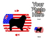 Australian Shepherd Silo Usa Flag Playing Cards 54 (Round)  Front - HeartK