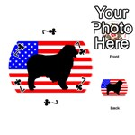 Australian Shepherd Silo Usa Flag Playing Cards 54 (Round)  Front - Club7