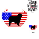 Australian Shepherd Silo Usa Flag Playing Cards 54 (Heart)  Front - Heart7