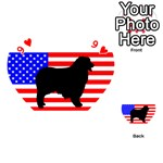 Australian Shepherd Silo Usa Flag Playing Cards 54 (Heart)  Front - Heart9