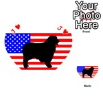 Australian Shepherd Silo Usa Flag Playing Cards 54 (Heart)  Front - HeartJ