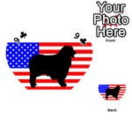 Australian Shepherd Silo Usa Flag Playing Cards 54 (Heart)  Front - Club9