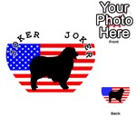 Australian Shepherd Silo Usa Flag Playing Cards 54 (Heart)  Front - Joker1