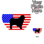 Australian Shepherd Silo Usa Flag Playing Cards 54 (Heart)  Back