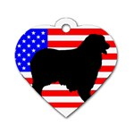 Australian Shepherd Silo Usa Flag Dog Tag Heart (Two Sides) Front