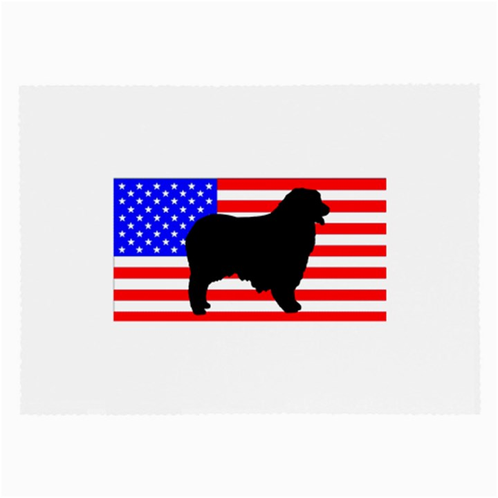 Australian Shepherd Silo Usa Flag Large Glasses Cloth
