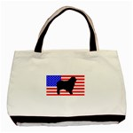 Australian Shepherd Silo Usa Flag Basic Tote Bag (Two Sides) Back