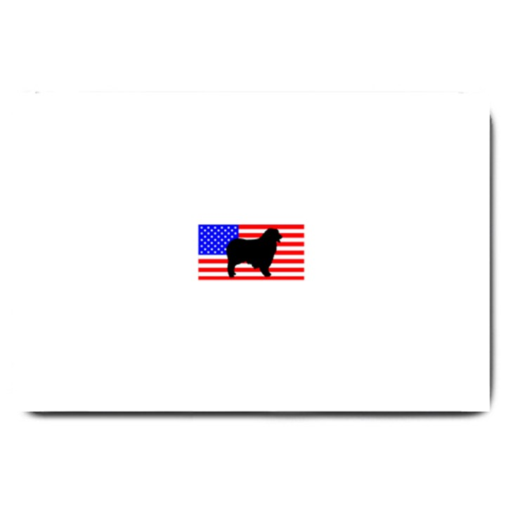 Australian Shepherd Silo Usa Flag Large Doormat