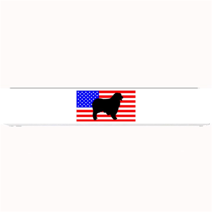 Australian Shepherd Silo Usa Flag Small Bar Mats