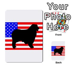 Australian Shepherd Silo Usa Flag Multi-purpose Cards (Rectangle)