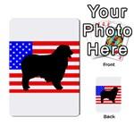 Australian Shepherd Silo Usa Flag Multi-purpose Cards (Rectangle)  Back 11