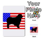 Australian Shepherd Silo Usa Flag Multi-purpose Cards (Rectangle)  Front 45