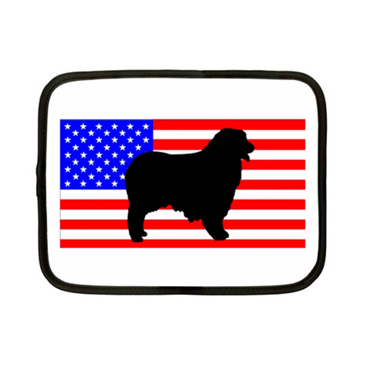 Australian Shepherd Silo Usa Flag Netbook Case (Small)