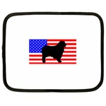 Australian Shepherd Silo Usa Flag Netbook Case (Large) Front