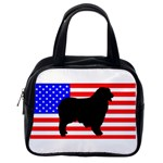 Australian Shepherd Silo Usa Flag Classic Handbags (One Side) Front